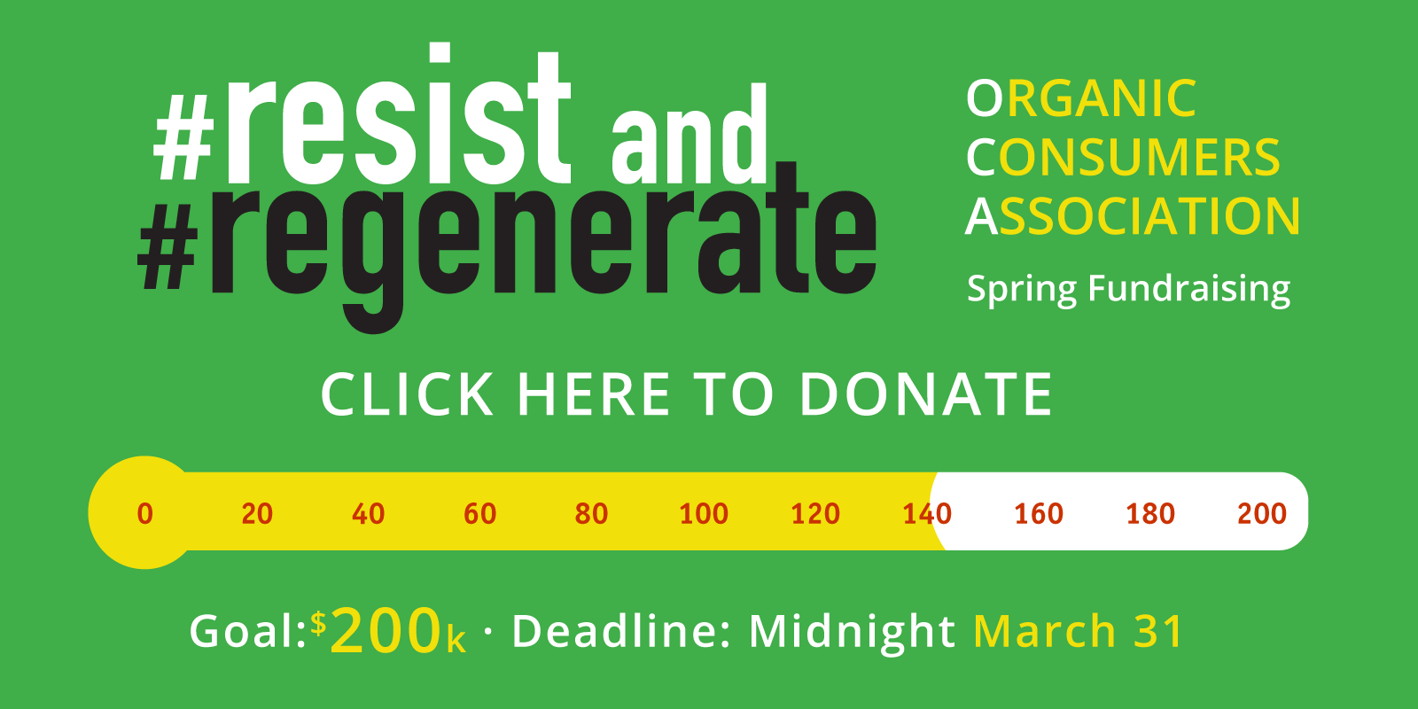 click here to donate fundraising meter at $140k