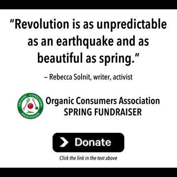 Donate to the Organic Consumers Association Spring Fundraiser