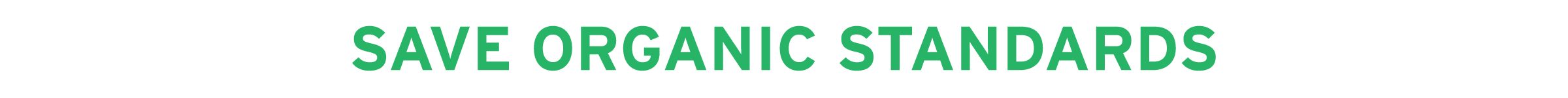 Save Organic Standards campaign banner image