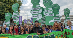 Rally for the Green New Deal.