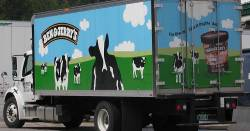 Ben & Jerry's ice cream shipping truck