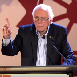 Bernie Sanders speaking at the People's Summit