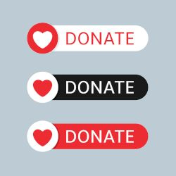 Donate image with hearts