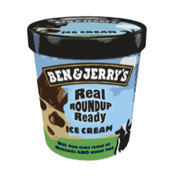 Ben and Jerry's Real Roundup Ready Ice Cream