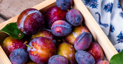 Box of plums