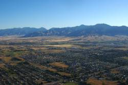 Sky view of Boseman Montana