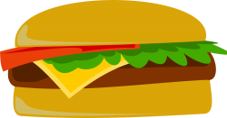 clipart drawing of a fast food burger