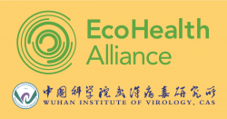 EcoHealth Alliance logo and the Wuhan Institute of Virology, CAS logo.