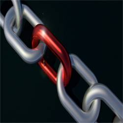 length of chain with a red link