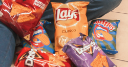 Small bags of chips.
