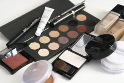 Assorted cosmetics and makeup