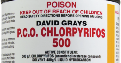Chlorpyrifos label.