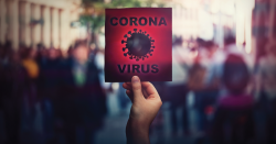 "A sign that reads, ""Coronavirus."""