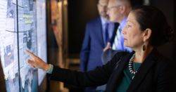 Deb Haaland at the Holocaust Museum via RepDebHaaland Twitter Page