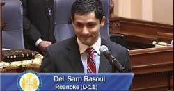 Delegate Sam Rasoul, D-VA, at his swearing in ceremony