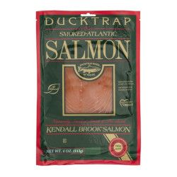 packaging for Ducktrap River of Maine smoked salmon