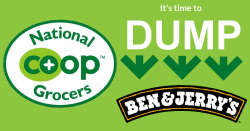 National Co-Op Grocers: It's time to #DumpBenandJerry's!