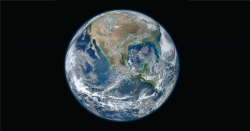 The Earth from a distance.