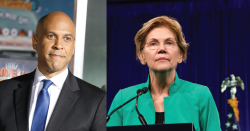 Elizabeth Warren and Cory Booker