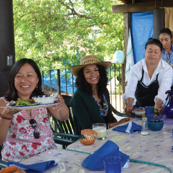 people celebrating a meal