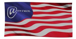 American flag with Control written on it
