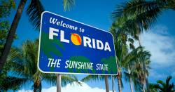 Welcome to Florida state sign