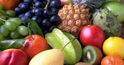 fresh exotic assortment of produce and fruits