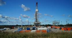 Gas drilling or fracking operation