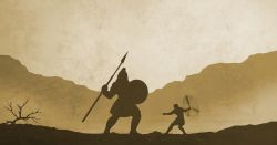 david and goliath fighting