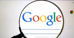 magnifying glass over the google search bar