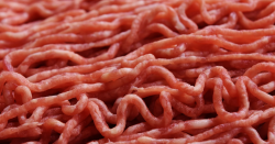 Close up photo of ground beef