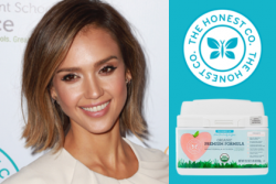 Jessica Alba and Honest Company logo