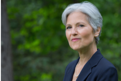 head shot of Jill Stein in front of trees