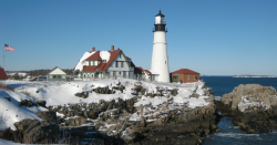 A lighthouse in Maine.