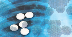 Malaria pills with a Covid19 background