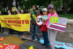 March Against Monsanto crowd in New York