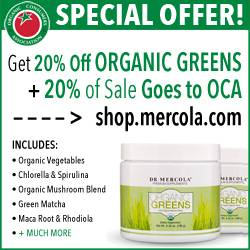 August promotion for Mercola