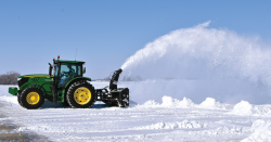 Tractor and snow.