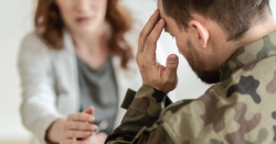 Military man at a therapist.
