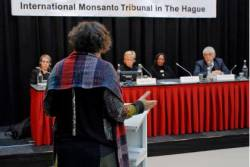 Marie-Monique Robin speaking at the Monsanto Tribunal at the Hague