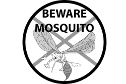 Mosquito warning graphic