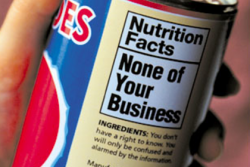 None of Your Business nutrition label