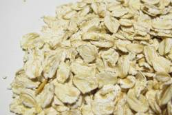 Close shot of oat grains