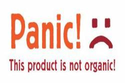 Panic! This product is not organic! label