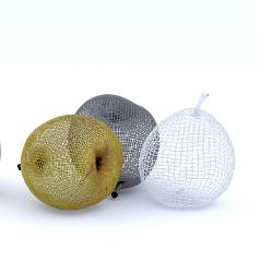computer generated image of pears
