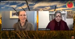Alexis Baden-Mayer Esq and Dr Vandana Shiva