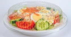 Plastic container with food.