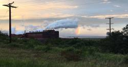 factory smoke stack  pollution