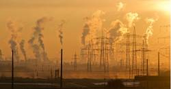industrial energy factory causing large amounts of air pollution