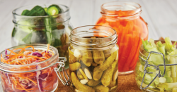 Pickled foods.